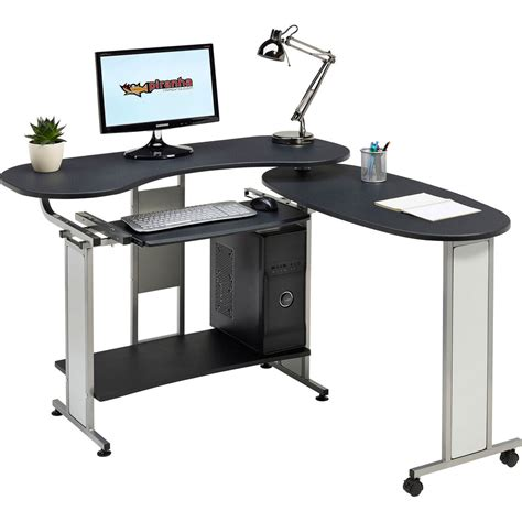 Quality Computer Desks For Home Folding Computer Table Home Office Piranha Furniture Mako Graphite Black Pc 3g Ebay