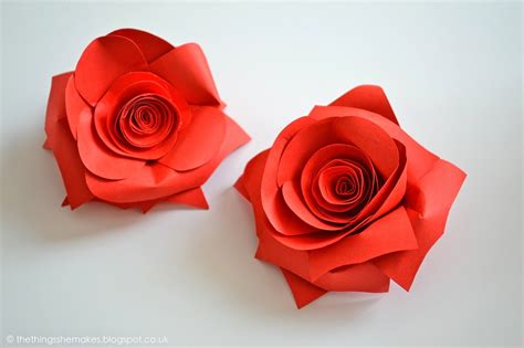 Paper Roses Easy - 20 diy paper flowers for a beautiful never wilting