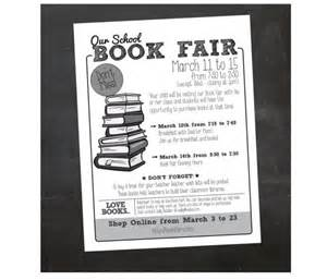 custom printable book fair flyer by inspiration