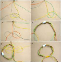 How To Make Macrame Bracelets Step By Step - how to make string bracelets step by step step by step