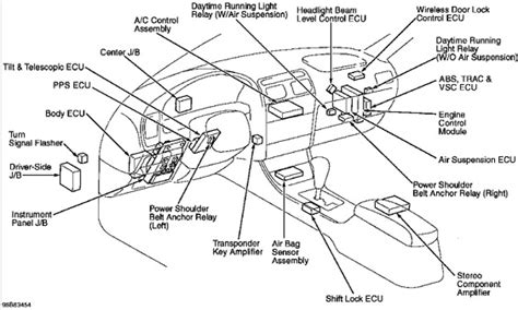 car engine manuals 1992 lexus ls engine control location of wireless remote alarm ecu 99 ls club lexus forums