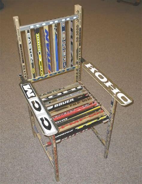 hockey stick bench hockey stick chair hockey pinterest
