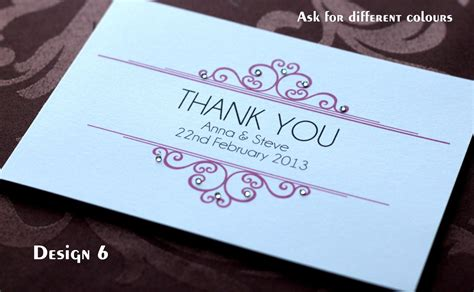 Handmade Wedding Thank You Cards - pack of handmade personalised wedding thank you cards 6