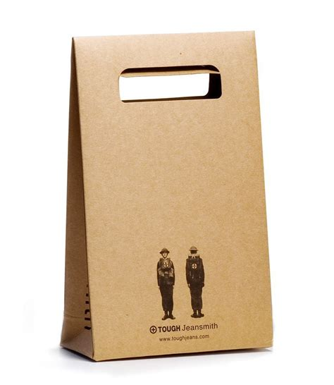 Paper Bag rectangle die cut handle brown kraft paper bag buy paper