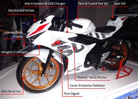 Cover Belakang Gsx R150 Suzuki Gsx R150 Makin Ganteng Dengan Aksesoris Resmi