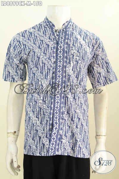 Hem Batik Shanghai baju batik terbaru untuk pria hem batik koko kerah