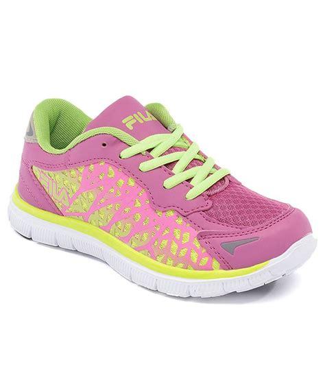 fila sally pink sport shoes price in india buy fila sally