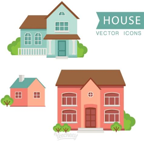 house flat design houses flat design free vector in adobe illustrator ai