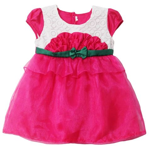 Dress Bayi dress bayi 2562 warna pink tak depan grosir baju anak