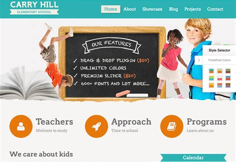 themes wordpress free school wordpress themes for education are trending on themeforest