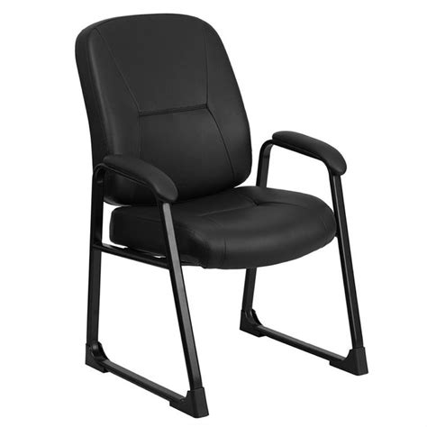 office furniture side chairs leather executive side office chair in black wl 738av lea gg