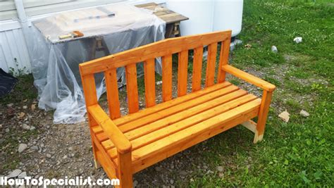 2 by 4 bench diy 2x4 bench for outdoors howtospecialist how to