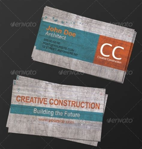 Construction Company Message For Business Cards 40 architects business cards for delivering your message