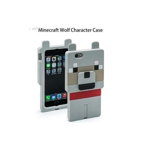 Minecraft Phone 3d Iphone 5 5s 6 Casing Hp Pig Wolf Creeper minecraft character iphone 5 and 5s compatible wolf 3d s ebay