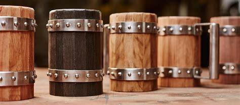 wooden beer mugs  green shield workshop jebiga