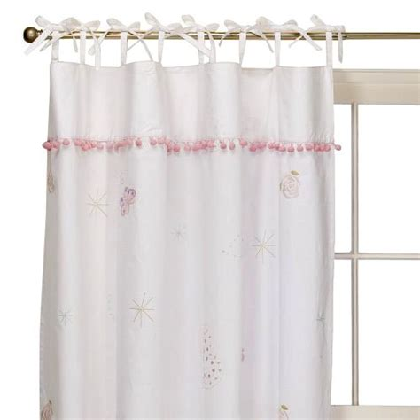 used simply shabby chic fairy tale 2 window panels 54 x 84 pink blue embroidered curtain