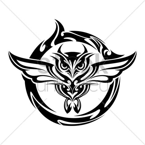 owl tattoo png owl tattoo vector image 1441387 stockunlimited