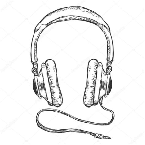 Circumaural Headphones with Wire ? Stock Vector © nikiteev