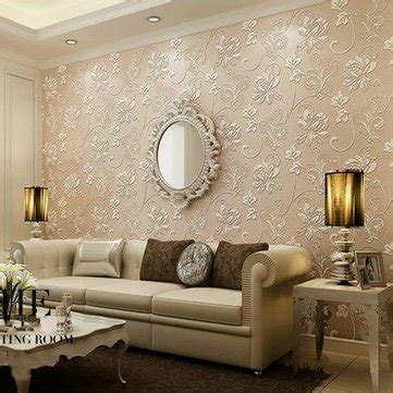 Wallpaper Sticker Motif 10m D750 10m continental 3d stereoscopic wall sticker paper living room home decor decal diy mural wall