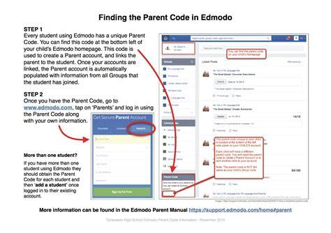 edmodo parent code digital learning tynecastle high school