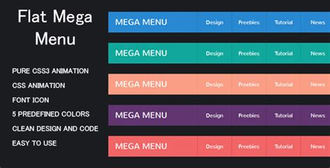 top bar menu css 25 best jquery css3 responsive mega menus tutorial zone