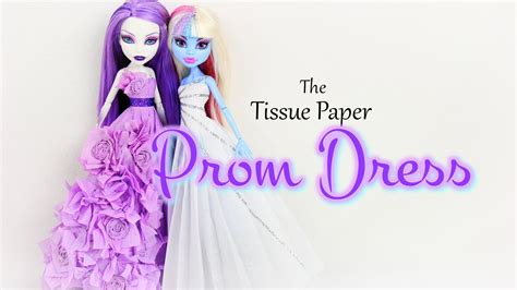 How To Make A Paper Dress - how to make a tissue paper prom dress doll crafts