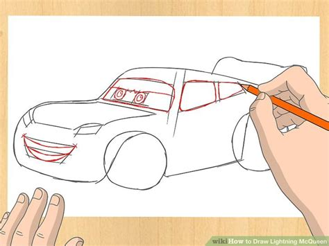 Lightening Step 3 how to draw lightning mcqueen 7 steps with pictures wikihow