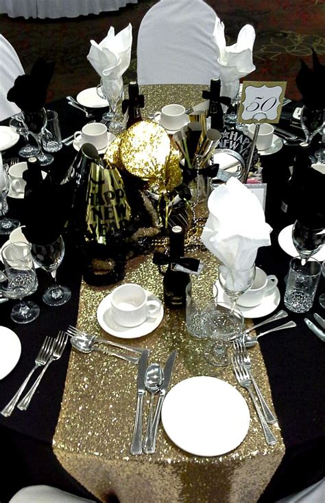 black and gold centerpieces for tables black gold and silver centerpiece for a black tie affair