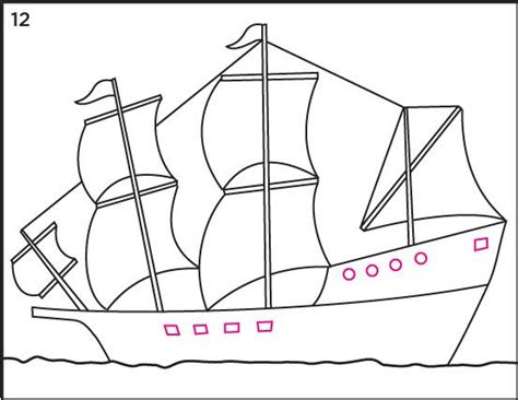 how to draw a boat from the first fleet from art projects for kids how to draw mayflower ship