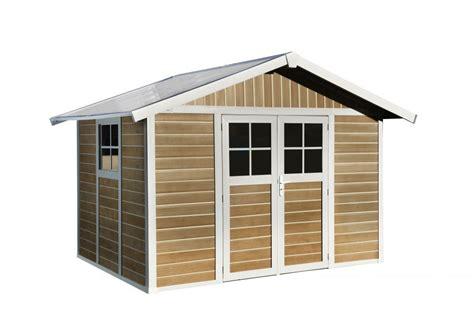 casette da giardino pvc casetta da giardino quot sherwood deco quot in pvc effetto legno