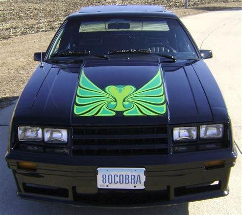 black 1980 ford mustang cobra optioned hatchback
