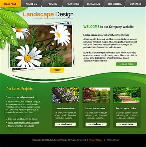 landscape templates template 15651 landscape design website template with