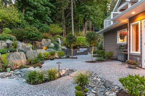 xeriscaped landscape design modern home victoria