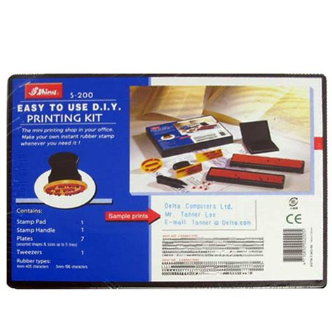 rubber st printing kit shiny s 200 rubber st easy to use diy printing kit