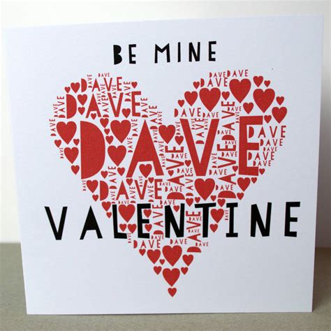 be mine valentines be mine personalised card by sew