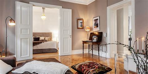 Charming Swedish Style Apartment In Cappuccino Color | charming swedish style apartment in cappuccino color