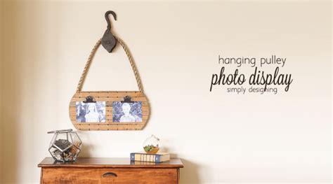 hanging photo display hanging pulley photo display
