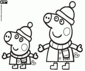 peppa pig winter coloring pages peppa pig coloring pages printable games