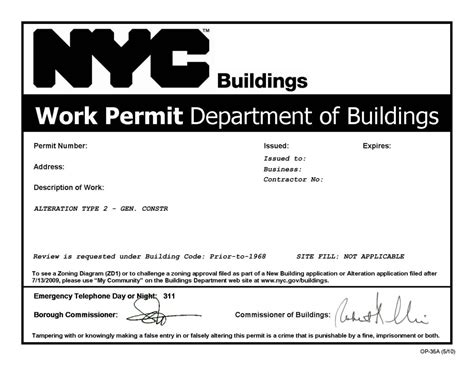 City Of Inspections Nyc Building Permits What Does Nb Alteration Type I Ii