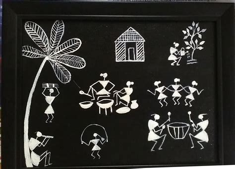 black and white painting ideas warli paintings black and white www pixshark com