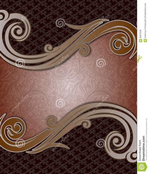 Naura Syari Tosca Green Black Cover Abstract Batik Brown Coffe Swirl Stock Illustration