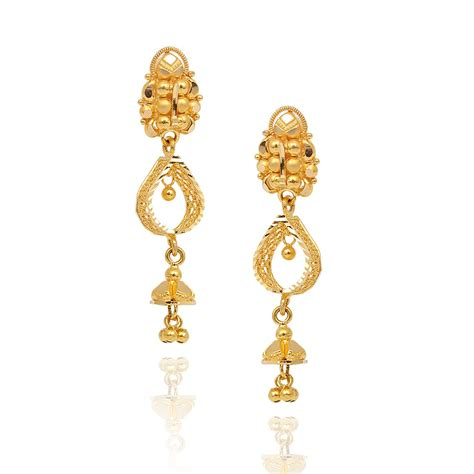 earings desing earrings dancing balls with pear shape design gold