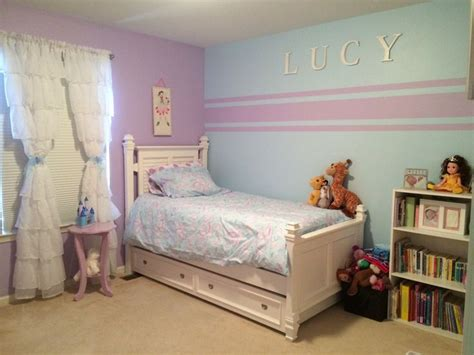 kids bedroom paint accent wall stripes for little girl room kristin duvet
