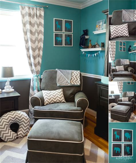 Teal And Gray Curtains Decorating Teal And Gray Chevron Nursery Decor Inspiration Tobnatural