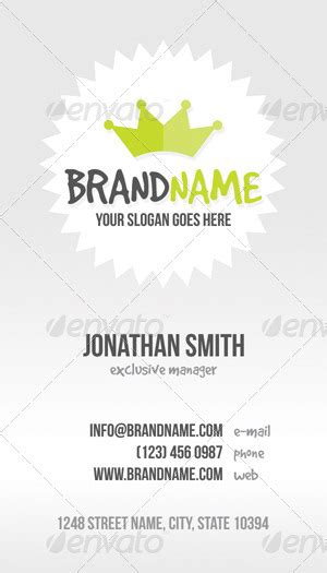 Casual Business Cards