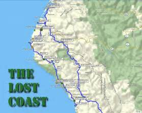 lost coast california map backroad navigator 187 the lost coast part one