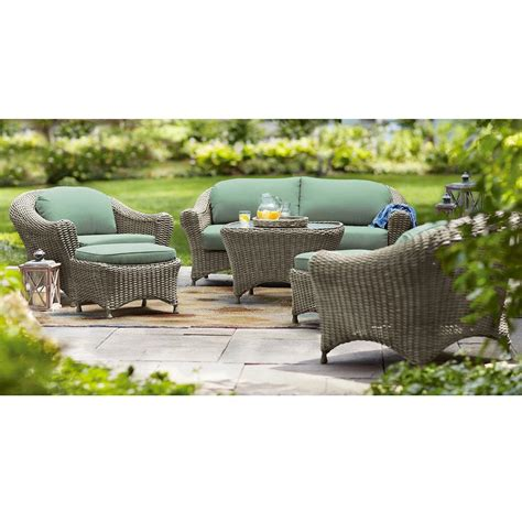 Martha Stewart Patio Furniture Sets by Martha Stewart Living Lake Adela Weathered Grey 6