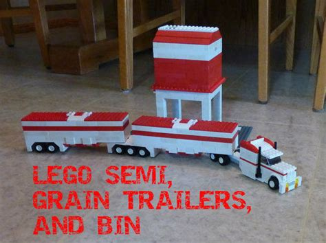 lego boat and trailer instructions lego semi grain trailers and bin