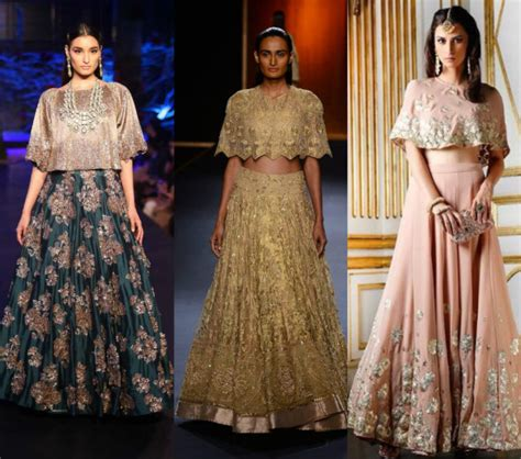 cape designs 7 modern lehenga designs for wedding indian fashion mantra