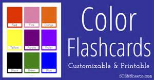color flash color flash cards stem sheets